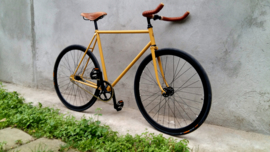 Single speed racing bicycle