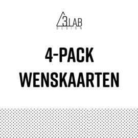 4-pack wenskaarten