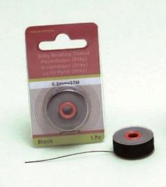 Silky kralen draad zwart 0,2 mm 37 MT 12050-5001
