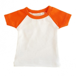 Mini tshirt wit/oranje