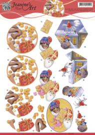 3D knipvel Jeanine's - Sinterklaas