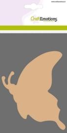 MDF basisvormen Vlinder zijaanzicht  3 st 10 cm x 13 cm x 3mm