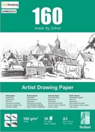 Schut Artist Drawing Paper  160 gram  A3 bloc a 30 vel
