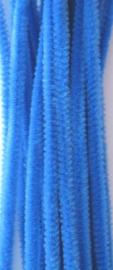 Chenille blauw 6mm x 30cm 20st