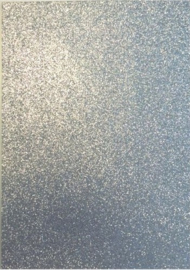 EVA foam vellen 2mm 22x30cm  Zilver glitter 12315-1531