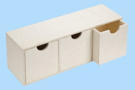 Houten doos, 29,5 x 8,5 x 9,5 cm