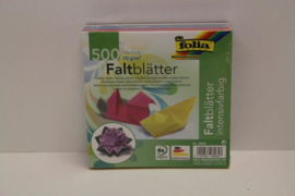 500 bl. origamipapier 15x15 ass