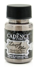 Cadence Opague Glas & Porselein verf Metallic Roze bruin 01 013 3170 0050  50 ml