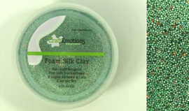 CraftEmotions Foamball clay - luchtdrogende klei - groen glitter 30gr