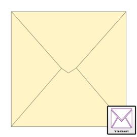 Envelop 20 stuks Vierkant Ivoor 17x17