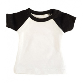 Mini tshirt wit/zwart