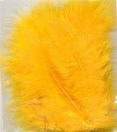 Marabou veren geel 15 ST