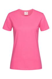 Classic-T Neck Women sweet pink Maat XS