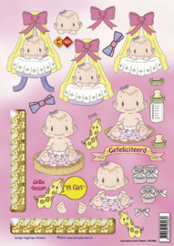 1 x Card Deco - Betsy Lurvink - It`s a Girl