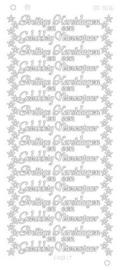 cd 3016 Prettige kerstdagen gelukkig nieuwjaar platinum - Goud