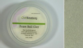 CraftEmotions Foamball clay - luchtdrogende klei - wit 15gr