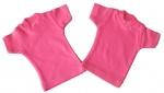 mini t-shirt roze, katoen, kleur roze