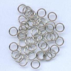 Split ring gehard zilverkleur 6 mm 50 ST 12024-0041