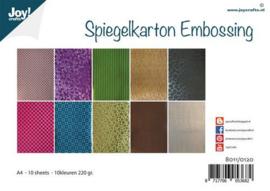 Joy! Crafts Spiegelkarton Embossing 10vl 8011/0120 A4
