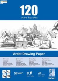 Schut Artist Drawing Paper  120 gram  A3 bloc a 30 vel