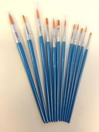 Penselenset nylon (6x plat 6x rond) 12 ST 12185-3085