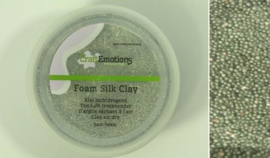 CraftEmotions Foamball clay - luchtdrogende klei - zilver glitter 30gr