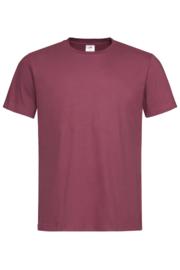 Classic-T Crew Neck Men burgundy red Maat  M