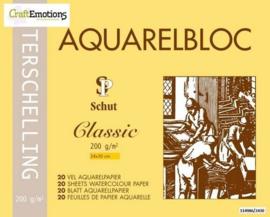 Schut Terschelling Aquarelblok Classic 24x30cm 300 gram - 20 sheets