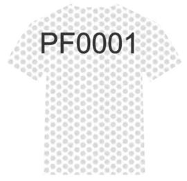 PF0001 Wit Perfor Siser