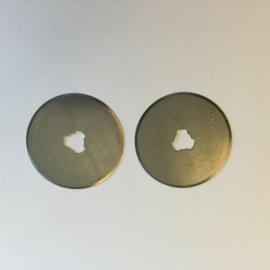 Reserve mesjes voor rotary cutter 45mm - 2 st. recht 12411-1131