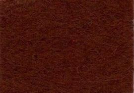Viltlapje viscose donkerbruin  20x30cm - 1mm  1 vel