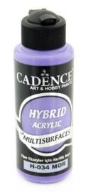 Cadence Hybride acrylverf (semi mat) Paars 01 001 0034 0120 120 ml