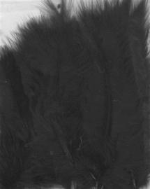 Marabou veren zwart 15 ST