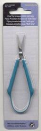 Pincetschaar fijn soft grip 10,5cm