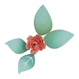 1 ST (1 ST)  Sizzlits Die Bloom w/Leaves 3-D 658501 Scrappy Cat