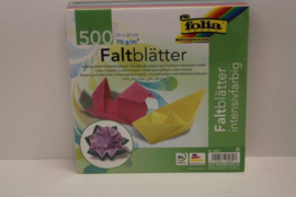500 bl. origamipapier 20x20 ass