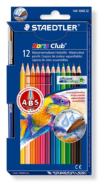 Staedtler Noris Club aquarell - set 12 st. + penseel 144 10NC12