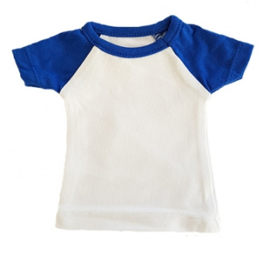 Mini tshirt wit/blauw