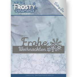 Dies - Jeanine's Art - Frosty Ornaments - Text Frohe Weihnachten