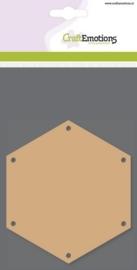 MDF basisvormen zeshoek (3 st) 10cm x  3mm