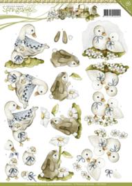 knipvel 3D Precious Marieke - Animals Pasen