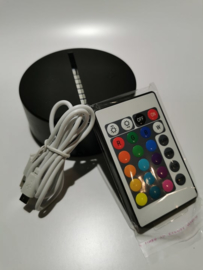 Ledlamp houder incl kabel en afstandbediening