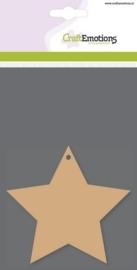 MDF basisvormen ster 5-punts (3 st) 10cm x 3mm