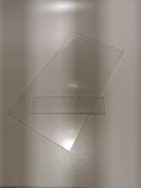 Plexiglas 8 cm x 15 cm incl steunglasje
