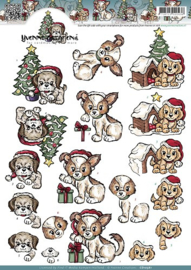 CD 10561  Christmas Puppies