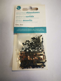 Rhinestones Clear/champagne/peach  SILH-RHINE-6PK-2-T