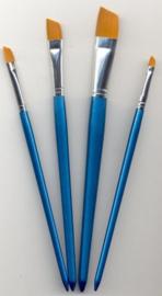 Penselen set nylon 4x plat 4 ST 12185-8510