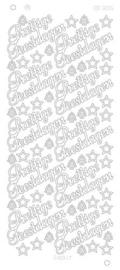 3015z Prettige feestdagen groot platinum - Zilver
