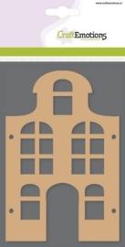 MDF basisvormen huis klokgevel (2-delig) 15cm x 10cm x 3mm