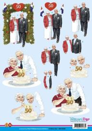 1 x 3D Knipvel - 50 jaar getrouwd
